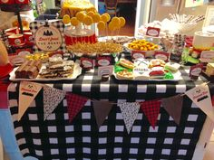 Food Table at a Lumberjack themed kids party - great food ideas!