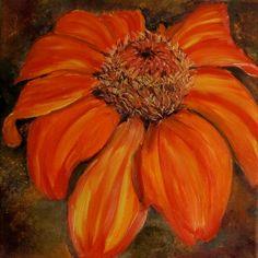 Ölmalerei - Ringelblume Originalölbild - ein Designerstück von Garty66 bei DaWanda