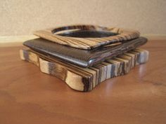 Wood Bangles  Stripe  Geometric  Wenge   by inbloomdesigns on Etsy,