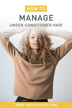 How to Manage Your Under-Conditioned Hair: Re-Hydrate for Healthier Results Natural Hair Care Tips, Natural Beauty Tips, Natural Hair Styles, Curly Hair Care, Wavy Hair, Curly Hair Styles, Cute Curly Hairstyles, Straight Hairstyles, Coily Hair