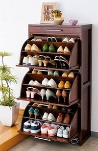 Practical shoe rack design ideas for small houses Futuristic architect . - Practical shoe rack design ideas for small houses Futuristic architect … – Practical shoe rack - Shoe Storage Design, Diy Shoe Storage, Shoe Storage Cabinet, Rack Design, Bedroom Storage, Storage Ideas, Diy Bedroom, Attic Storage, Storage Rack