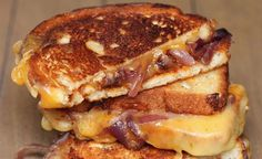 Caramelized Onion BBQ Grilled Cheese