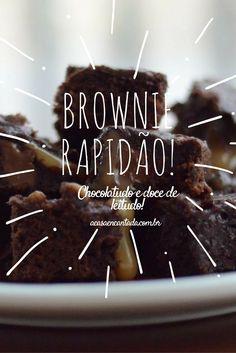 Brownie de chocolate e doce de leite muito fácil!