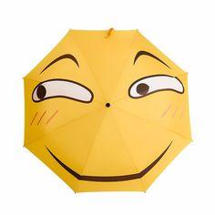 Creative Folding Umbrella Funny Expression Emoji Face Umbrella Sunny Rainy Rain Gear
