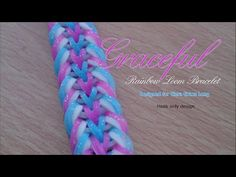 Graceful Rainbow Loom bracelet. Hook only. - YouTube