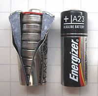 A23 energizer battery = 8 button batteries for watch...