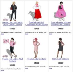 Grease The Musical Costumes | Grease Costumes — Why Pay More... Save $10? $20? $30? On Grease ...