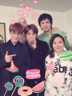 "Kai, Sehun - 160125 Tao Jing Ying's weibo update: ""@大米李黎 #你看起來很好吃# @wu世勋-EXO…"