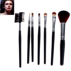 7PCS Fashion Soft Make-up Professional Cosmetic Tool Brushes with Elegant Bag can be purchased from #RoseWholeSale Online Store with Promotional Coupons and Vouchers.