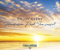 Enjoy every Henderson Park Inn sunset!