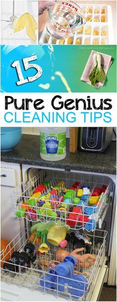 15 Pure Genius Cleaning Tips