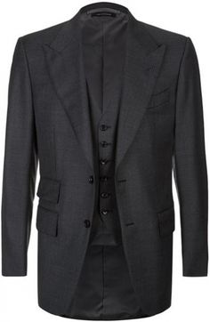Tom Ford Windsor Three-Piece Suit in grey (in the movie the colour is black herringbone)