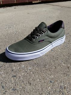 4379f66bb1ae Vans Era 59 shoes in Ivy have that classic styling vans has been known for  since