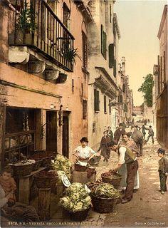 34 старинных, цветных фотографий. Венеция конца 19 века