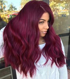 43 Burgundy Hair Color Ideas and Styles for 2019 - Hair ♡ - Hair Pelo Color Vino, Pelo Color Borgoña, Red Hair Color, Brown Hair Colors, Magenta Hair Colors, Burgundy Color, Red Burgandy Hair, Dyed Red Hair, Autumn Hair Colors