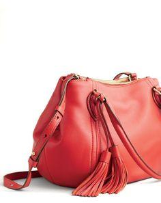 Just bought this in black!! J.Crew women's Peyton bag.