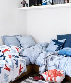 H&M Home boy's room dinosaur bedding