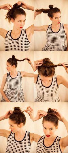 how to do a messy bun #Beauty #Trusper #Tip