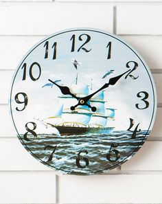 Marine series of second seconds retro wall clock (a variety of optional)