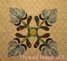 Beautiful Applique Quilt Block