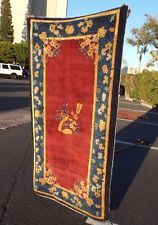 Auth: 1910 Antique Chinese Rug  Hand Made 3x5 Peking Rug Sweet Collectible    NR