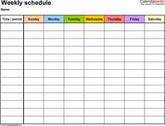 Daily schedule template printable daily planner template excel free weekly schedule templates for excel 18 templates maxwellsz