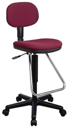 Office Star Drafting/Laboratory Chair w Chrome Footrest, Cushioned Seat & Back, $120