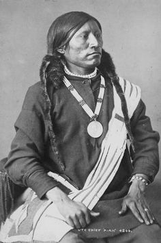 Ute Chief Piah. Photo by William Henry Jackson. 1877-1878,