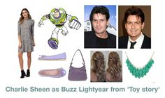 """Disney dream cast: Charlie Sheen as Buzz Lightyear from 'Toy story'"" by sarah-m-smith ❤ liked on Polyvore featuring Disney, Pretty Ballerinas, Gucci and Alexa Starr"