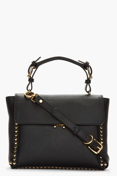 Marni Black Studded Leather Tote Bag for women Cute Purses, Purses And Bags, Trendy Handbags, Handbags 2014, Work Bags, Studded Leather, Goodie Bags, Marni, Evening Bags