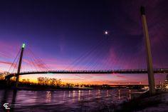 Morning on the Bridge  Bob Kerry Pedestrian Bridge, Omaha  Eric Anderson