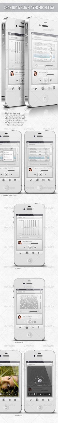 Retina Media Player - Shaniqua - GraphicRiver Item for Sale