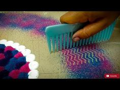 Diwali special multicolored semi-circle rangoli design | Easy rangoli designs by Poonam Borkar - YouTube