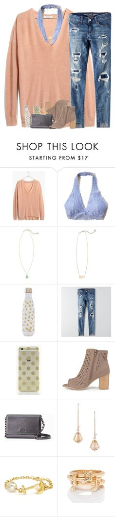 """""""These seats are currently being occupied by my ghost friends"""" by teamboby ❤ liked on Polyvore featuring Madewell, Hollister Co., Kendra Scott, S'well, American Eagle Outfitters, Kate Spade and Journee Collection"""
