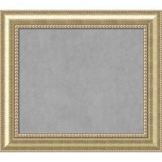 Framed Magnetic Board Choose Your Custom Size, Astoria Champagne Wood (45 x 21-inch), Gold