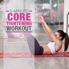 5-Minute Core Tightening Workout #5minuteworkouts #coreworkouts #flatbellyworkouts