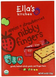 Ellas Kitchen Nibbly Fingers Strawberries and Apples 44 Ounce Pack of 8 >>> Check out the image by visiting the link.