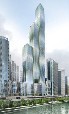 Construção de Edifícios em Escada em Chicago