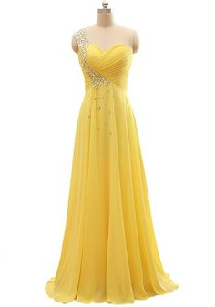 Custom-Made 2016 Sexy A-Line Shoulder Floor Length Lace-Up Prom Dresses Chiffon Grasp Fold Beaded Swarovski Crystals Wedding Gown