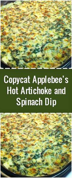 Copycat Applebee's Hot Artichoke and Spinach Dip – Fresh Family Recipes Copycat Applebee's Hot Artichoke and Spinach Dip – Fresh Family Recipes,General Recipes & Drinks, Smoothies & Co. Copycat Applebee's Hot Artichoke and Spinach.