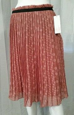NWT Womens Down East Basics Accordion Skirt Size L Large