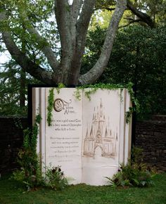Fairytale Book Backdrop - These Disney Wedding Details Will Make Your Big Day Extra Magical - Photos Garden Wedding, Dream Wedding, Wedding Day, Wedding Blog, Wedding Disney, Disney Weddings, 1920s Wedding, Budget Wedding, Chic Wedding
