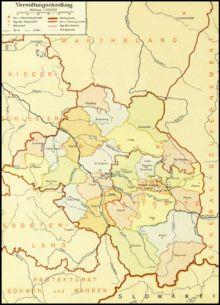 Regierungsbezirke und Kreise im Gau Oberschlesien (1943)