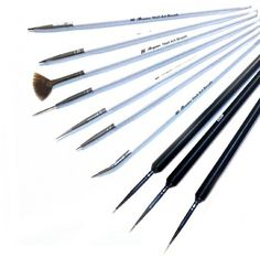 3pcs Precision Sable Nail Art Detailing Liner Brushes Plus 7 x Nail Art Brush Tool Set With Bonus Item# 4136  - Click image twice for more info - See a larger selection of nail brushes at http://www.zbestsellers.com/level.php?node=136&title=nail-brushes - woman, woman fashion, nail ideas, nail decor, beauty, nails, gift ideas.