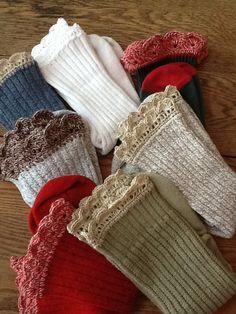 SM Daily -Crochet edged socks