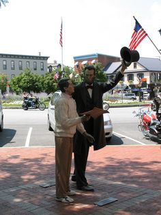 Gettysburg, PA - my son and I love to sit at the square and people watch! Gotta love tourist season!!!