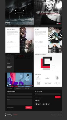 dark, concept, layout, contrast, red