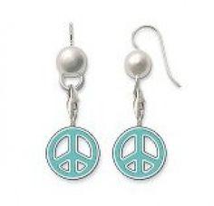 thomas sabo earrings sale uk thomas sabo Blue peace sign earrings/cus0613