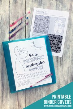 Printable Coloring Page Binder Covers