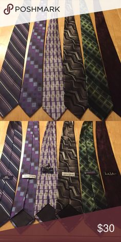 Bundle of 6 Ties 6 assorted ties. Accessories Ties
